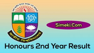 honours 2nd year result