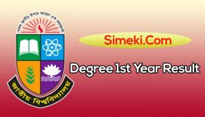 nu degree 1st year result