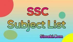 ssc all subject list