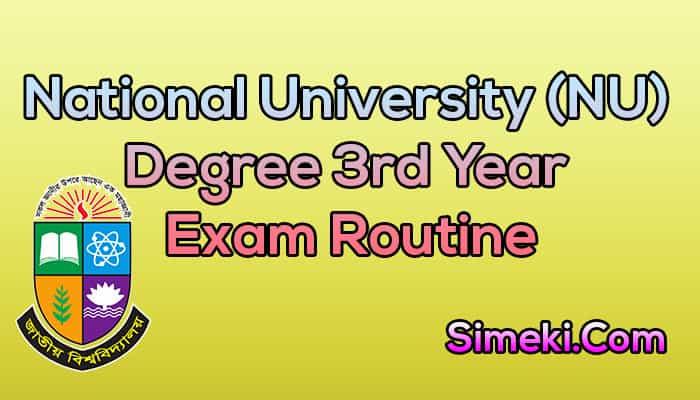 degree 3rd year exam routine