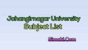jahangirnagar university subject list