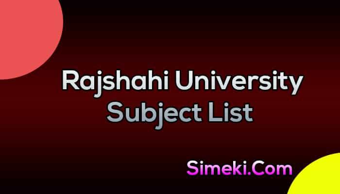 rajshahi university subject list